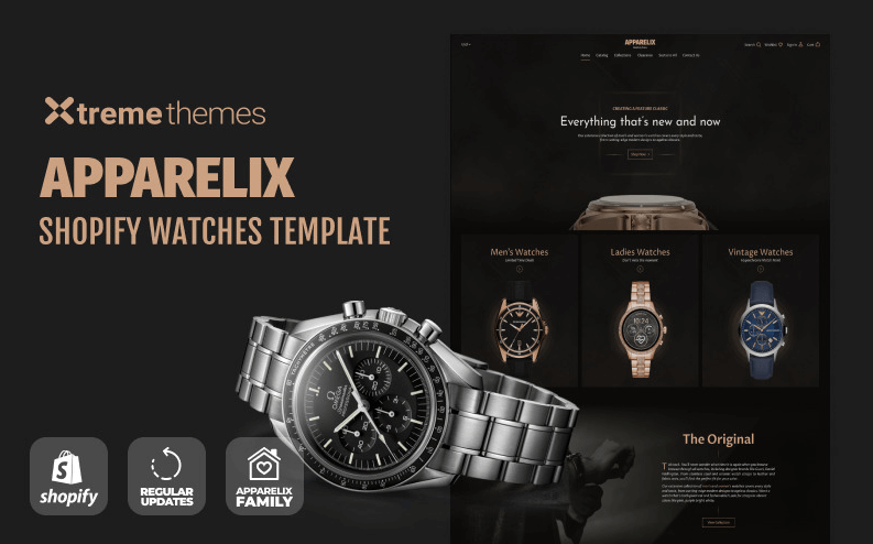 Apparelix shopigy Theme- Online Store for Selling of watches with Shopify