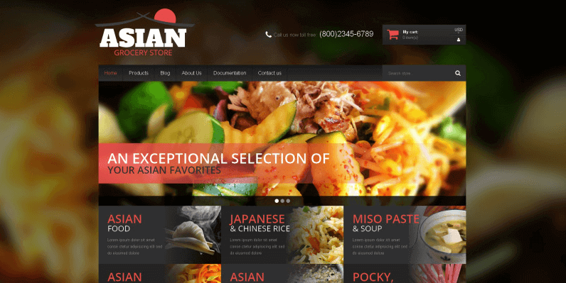Asian Cuisine Products Shopify Theme- Online Store for Selling Grocery with Shopify
