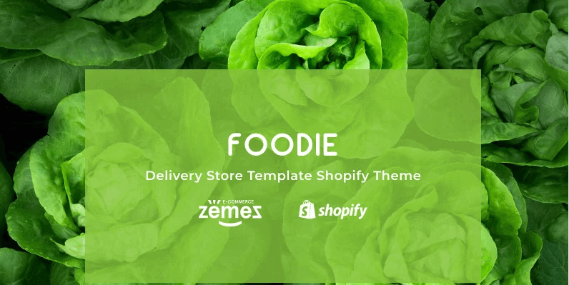 Shopify Delivery Store Template Foodie Theme- Online Store for Selling Grocery with Shopify
