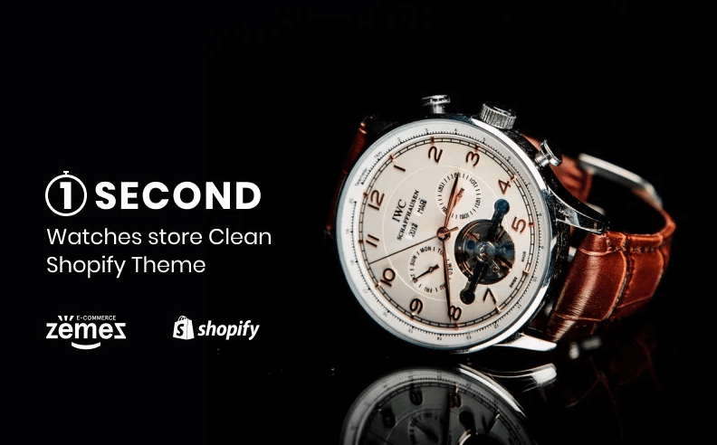Watches store eCommerce Clean - 1Second Shopify Theme- Online Store for Selling of watches with Shopify
