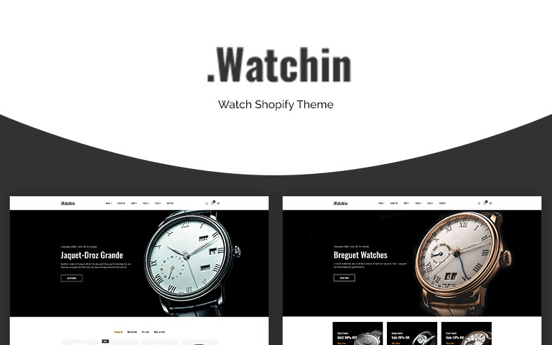 Watchin - Watch eCommerce Shopify Theme- Online Store for Selling of watches with Shopify