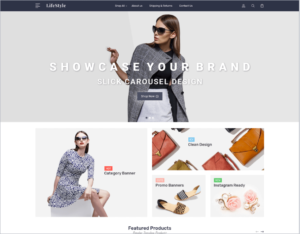 LifeStyle Default BigCommerce Theme- Sell Clothing & Apparel Online with BigCommerce