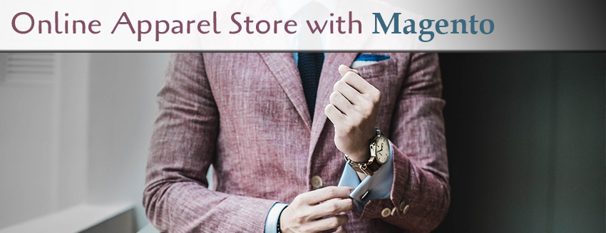 Online apparel store with magento